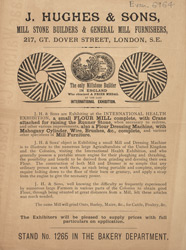 Advert For J. Hughes, Mill Stone Builders
